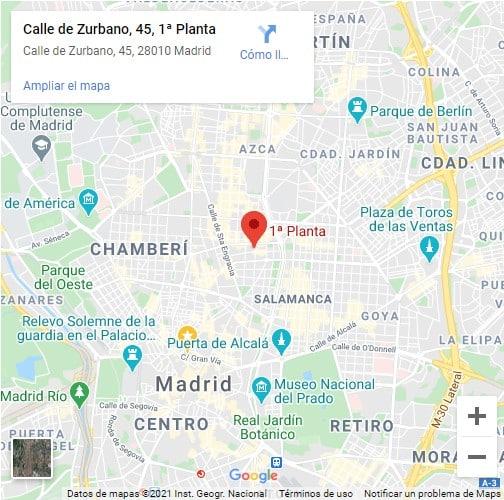 Mapa despacho Empiezadecero Madrid